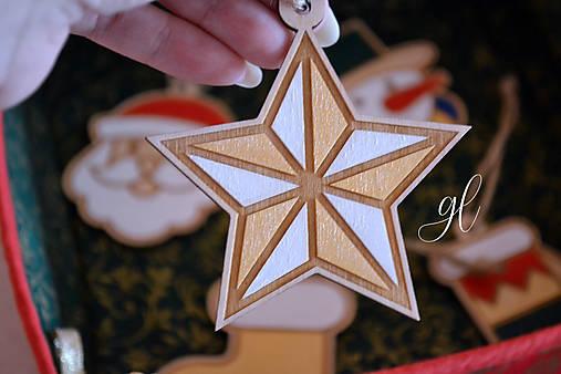 Vianočné ozdoby postavičky maľované (hviezda)