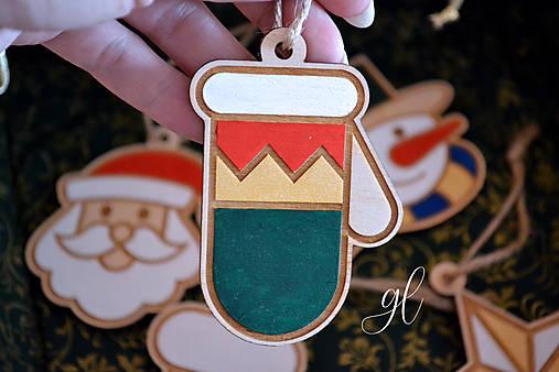 Vianočné ozdoby postavičky maľované (rukavica)