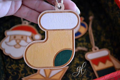 Vianočné ozdoby postavičky maľované (ponožka)