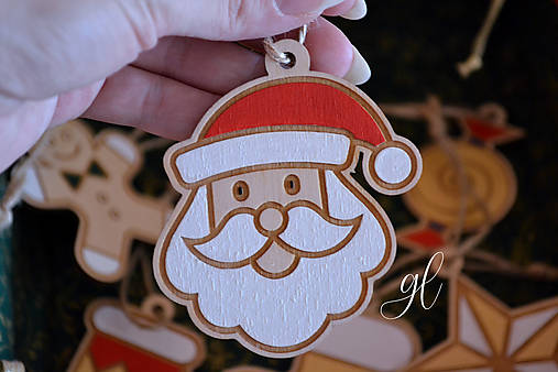 Vianočné ozdoby postavičky maľované (mikuláš)