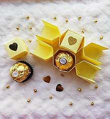Krabičky - Origami výročné salonky - 12516984_