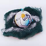 Dekorácie - Vianočná guľa - modrý anjelik - 12517614_