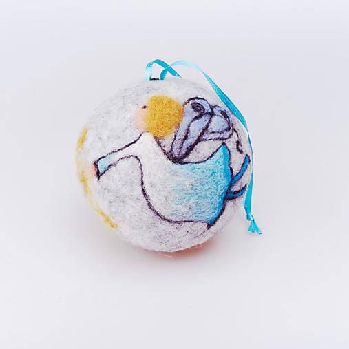 Vianočná guľa - modrý anjelik