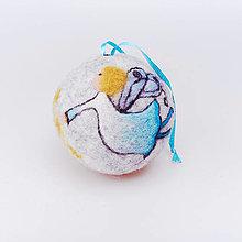 Dekorácie - Vianočná guľa - modrý anjelik - 12517615_