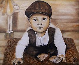 Obrazy - Portrét synčeka - 12519491_