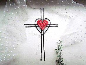 Dekorácie - tepaný krížik * 20 cm - 12514379_
