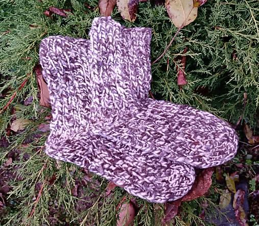 Vlnené ponožky -natur hnedé (Pánske 42/45)