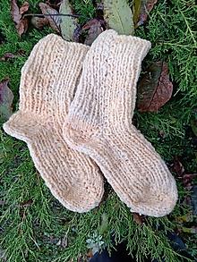 Obuv - Vlnené ponožky -natur smotanové (Pánske 42/45) - 12517871_