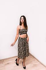 Iné oblečenie - Upcyklovaný dvojdielny set - nohavice a lambáda top - 12519465_