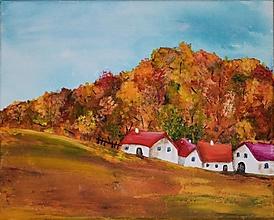 Obrazy - Teplá jeseň 30x24 cm - 12518902_