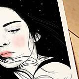 Grafika - Hvězdy - umělecký tisk, A4 - 12521174_