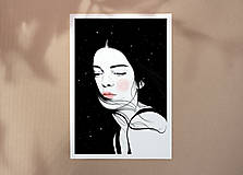 Grafika - Hvězdy - umělecký tisk, A4 - 12521177_