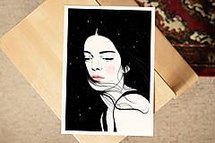 Grafika - Hvězdy - umělecký tisk, A4 - 12521178_