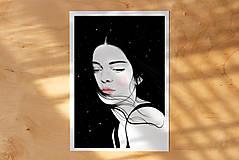 Grafika - Hvězdy - umělecký tisk, A4 - 12521181_