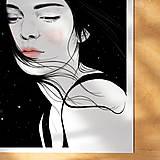Grafika - Hvězdy - umělecký tisk, A4 - 12521182_