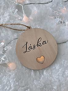 Dekorácie - Vianočná ozdoba láska - 12520064_