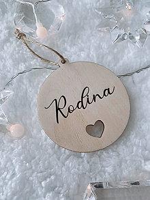 Dekorácie - Vianočná ozdoba rodina - 12521184_