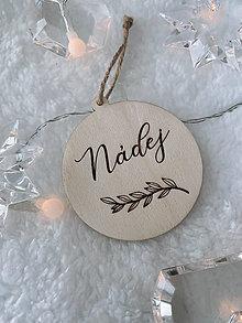 Dekorácie - Vianočná ozdoba nádej - 12523298_