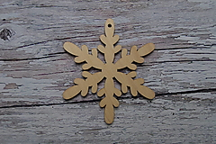 Dekorácie - Vianočná závesná ozdoba - vločka 4 - 12521827_