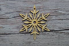 Dekorácie - Vianočná závesná ozdoba - vločka 3 - 12525452_