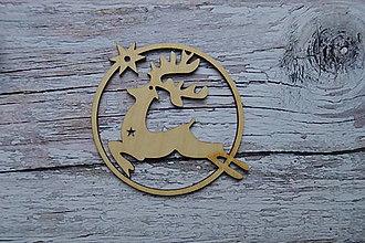 Dekorácie - Drevená vianočná ozdoba - jeleň - 12524166_