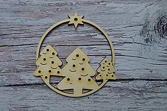 Dekorácie - Drevená vianočná ozdoba - stromy - 12524178_
