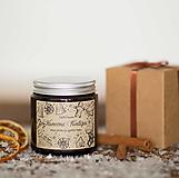Svietidlá a sviečky - AKCIA - Sviečka zo sójového vosku v hnedom skle - Vianočná Fantázia - 12520036_