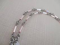 Iné šperky - Retiazka na okuliare - ružové tyčky - chirurgická oceľ - 12521877_