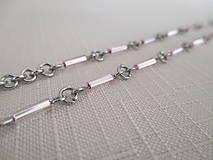 Iné šperky - Retiazka na okuliare - ružové tyčky - chirurgická oceľ - 12521892_