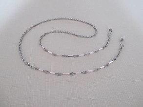 Iné šperky - Retiazka na okuliare - ružové tyčky - chirurgická oceľ - 12521831_