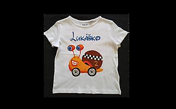 Detské oblečenie - Maľované tričko pre chlapca - 12523937_