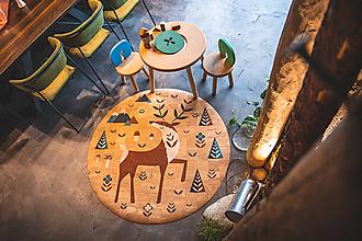 Úžitkový textil - Korkový koberec DEER - 12521901_