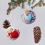 Dekorácie - Vianočná guľa - modrý anjelik - 12520090_