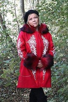 Kabáty - Ručne maľovaný kabát - 12521042_
