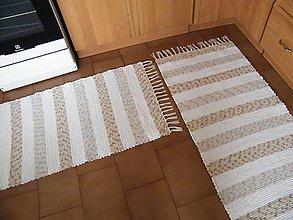 Úžitkový textil - Tkané koberce maslovo-hnedé 2 kusy - 12520916_