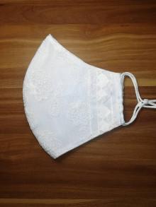 Rúška - Rúško Nevestine srdiečko z antibakteriálnej bavlny - 12530510_