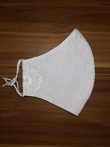 Rúška - Rúško Nevestine kvety z antibakteriálnej bavlny - 12530541_