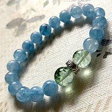 Náramky - Elastic Blue Jade & Lodolite Bracelet / Elastický náramok s lodolitom a modrým jadeitom - 12528356_