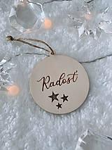 Dekorácie - Vianočná ozdoba radosť (S mašličkou) - 12529233_