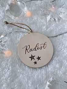 Dekorácie - Vianočná ozdoba radosť - 12529233_