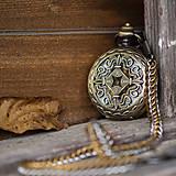 Doplnky - Mechanické vreckové hodinky s kroužkovanou reťazou (62) - 12529018_