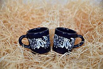 Nádoby - Praktická sada 13: Kávové šálky v modrej glazúre - 12525954_