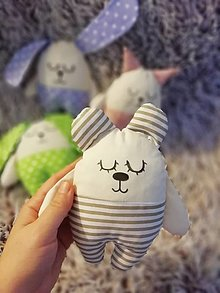 Hračky - Ľuľkáčik  (Pásikavý medvedík) - 12528733_
