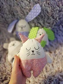 Hračky - Ľuľkáčik  (Ružová mačička) - 12528739_