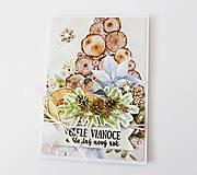 Papiernictvo - pohľadnica vianočná - 12525762_