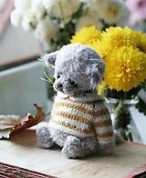 Hračky - Mini mačiatko sivé - 12528387_