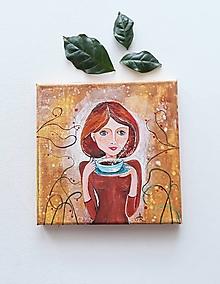Obrazy - Mám rada kávu, 20 x 20 cm, akryl - 12527448_