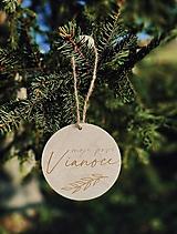 Detské doplnky - Drevený vianočný míľnik - 12530515_