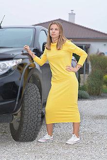 Šaty - Teplákové šaty Clara Melyn s kapucňou a predĺženým rukávom - 12526901_