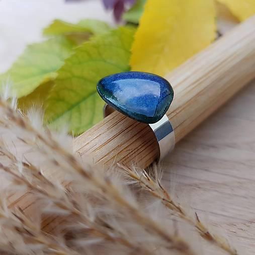 porcelánový prsteň | nerezová oceľ